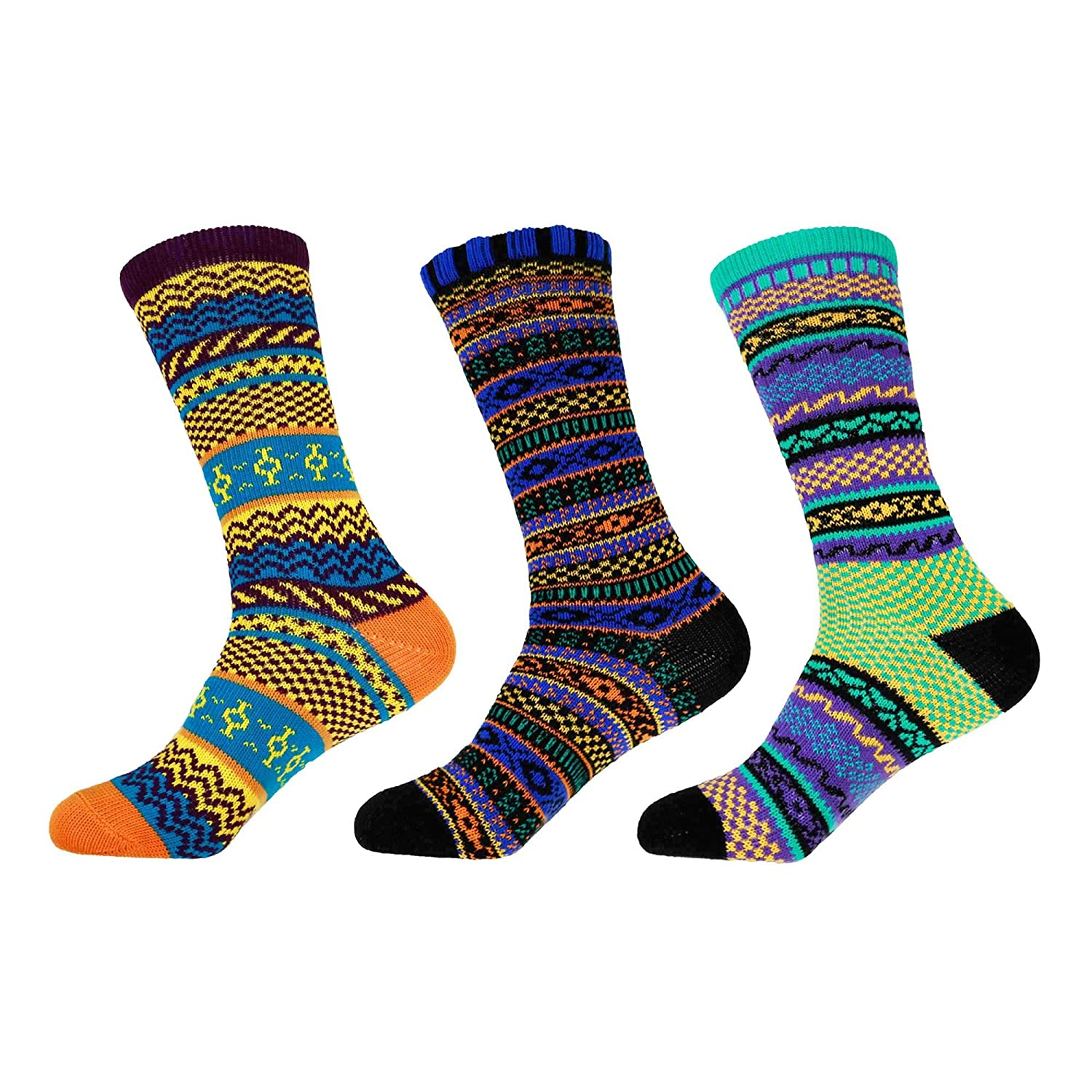 30c5a896ac0e Women's Vintage Style Knitted Fashion Novelty Patterned Funky Crazy  Designer Argyle Striped Dress Colorful Cotton Crew Socks - 3A-M, Size M - 3  prs at ...
