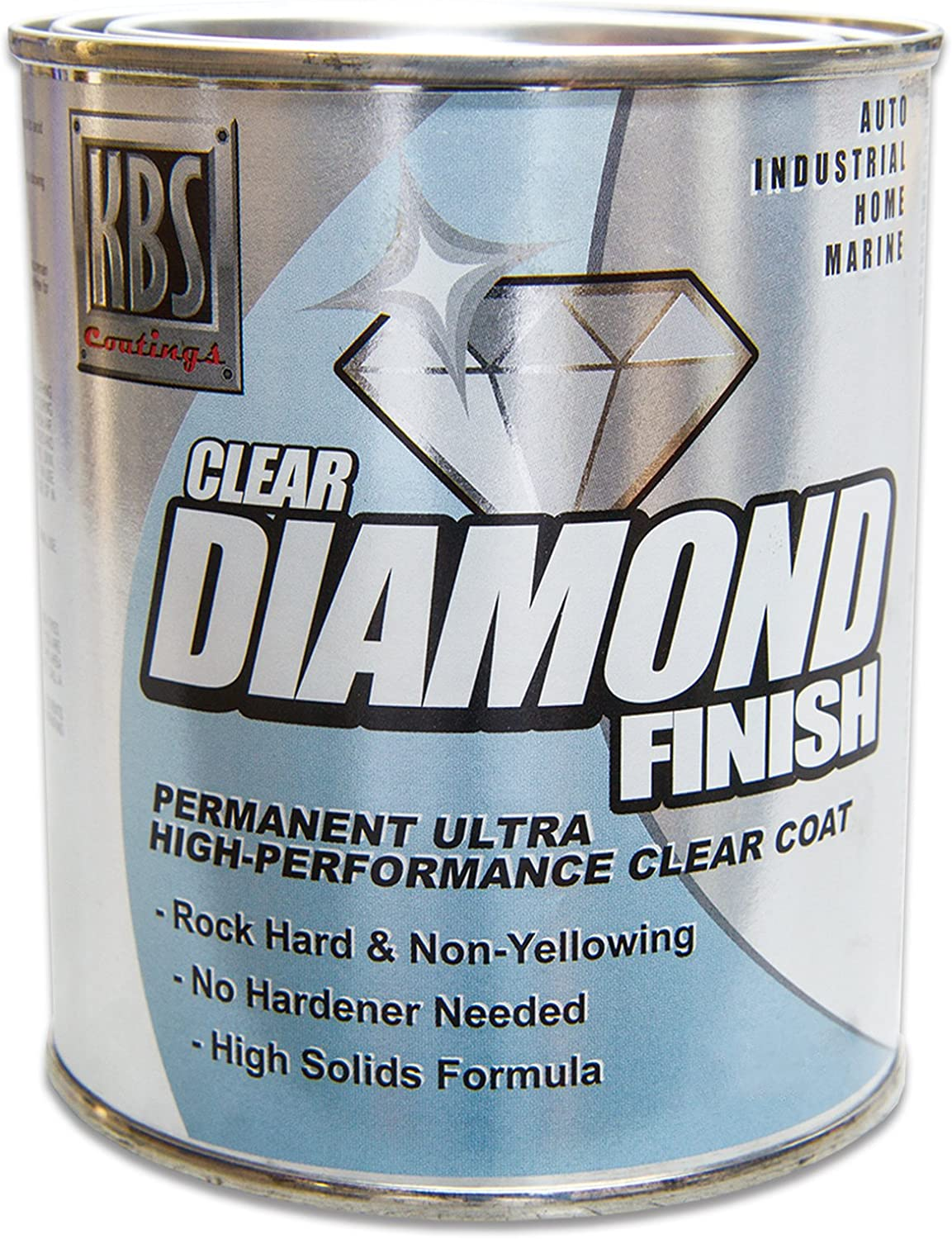 KBS Coatings 8304 DiamondFinish Clear Coat - 1 Pint, Coats up to 50 sq ft