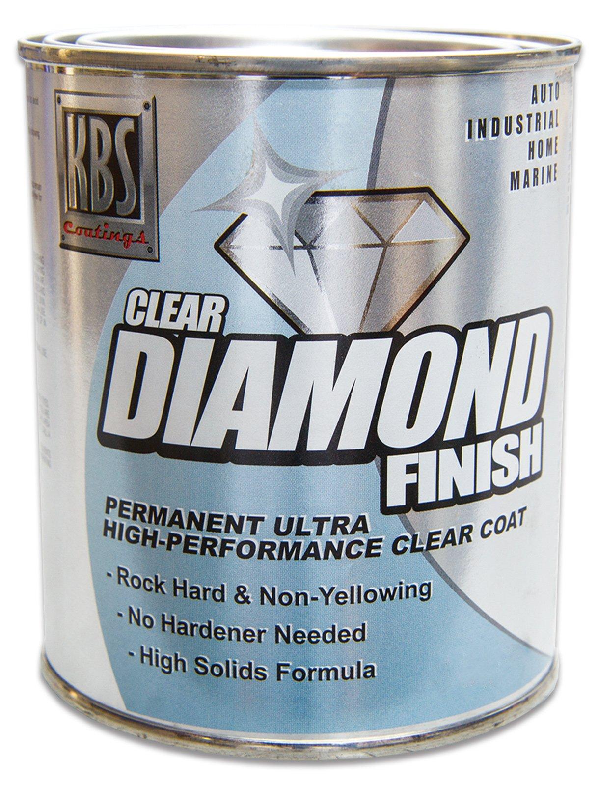 KBS Coatings 8304 DiamondFinish Clear Coat Pint, 16. Fluid_Ounces