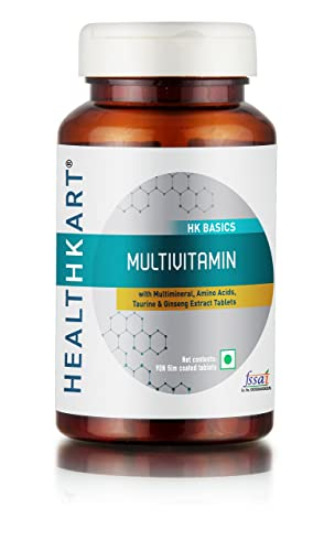 3. HealthKart Multivitamin with Ginseng Extract, Taurine and Multiminerals (Multivitamin, 60 capsules)