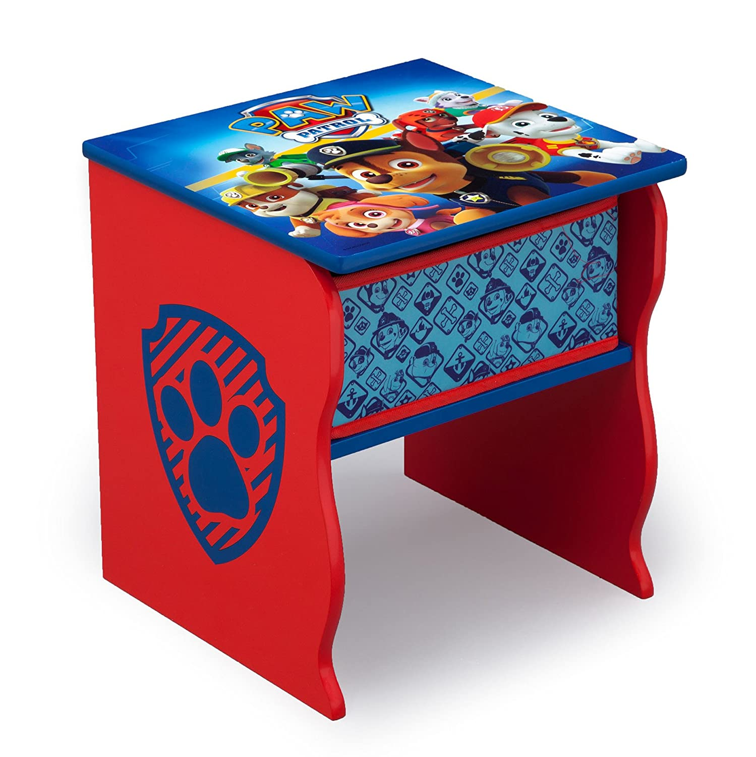 Delta Children Side Table with Storage, Nick Jr. PAW Patrol