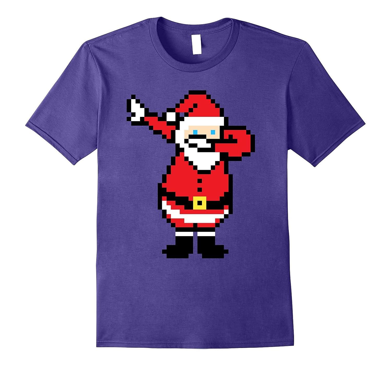 Santa Dabbing Shirt Xmas Retro 8-Bit Pixel Art Novelty Gift-ANZ