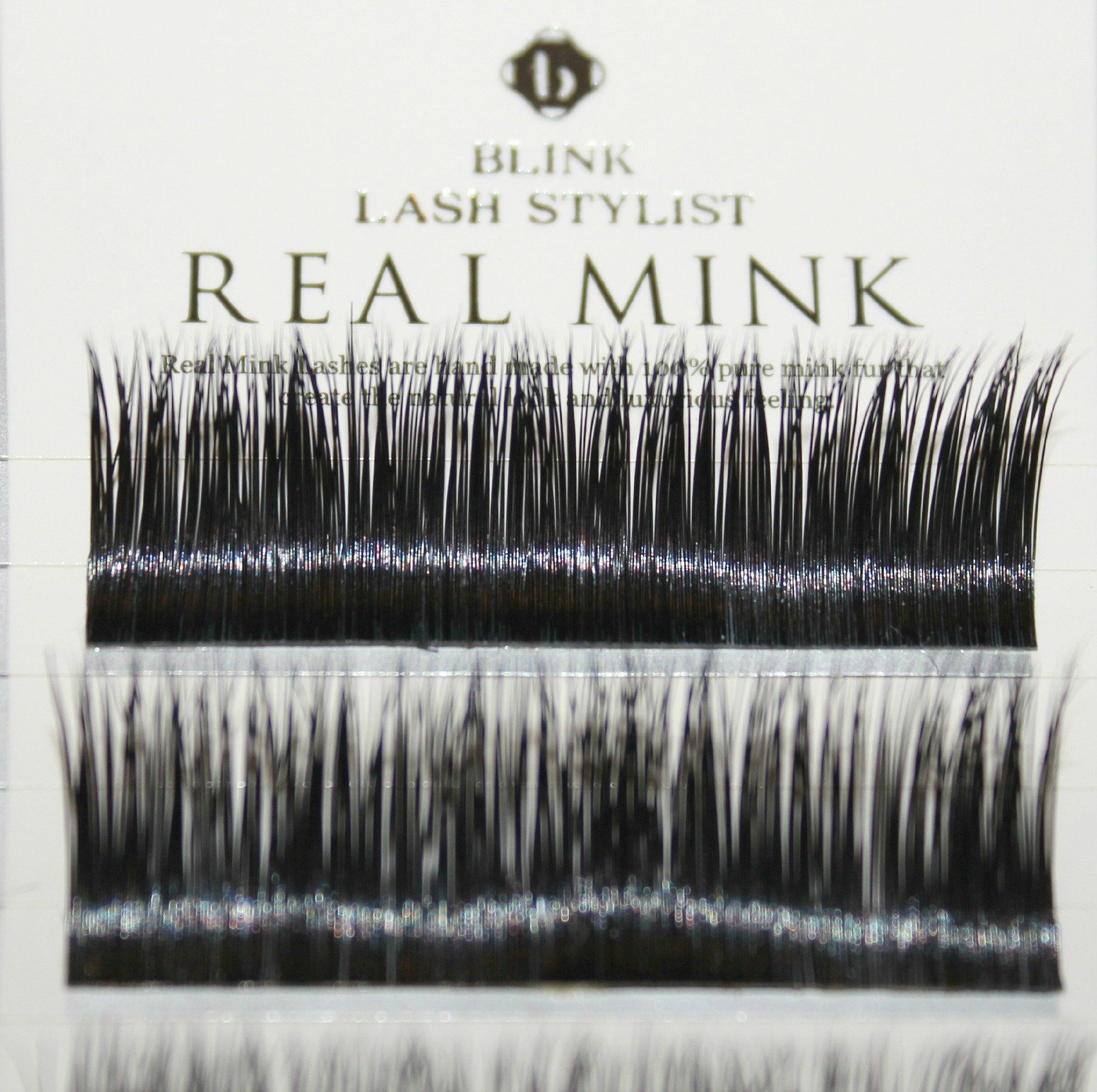 BLINK 100% Real Mink Fur Lashes C Curl 15mm for Eyelash Extension with Free iBeautiful Sample