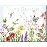 CounterArt Herb Garden Glass Cutting Board, 12 x 15 Inches