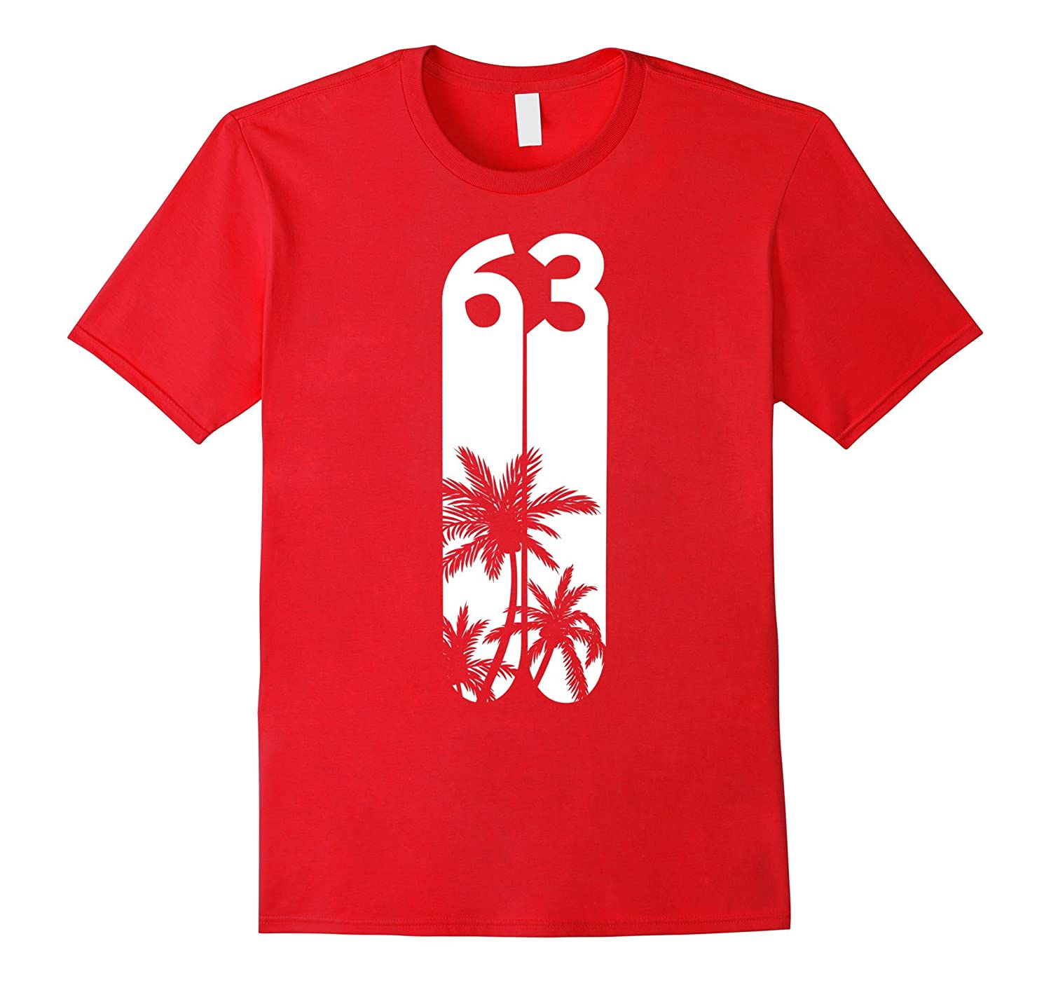 Big Number 63 Cute Graphic T-Shirt-PL