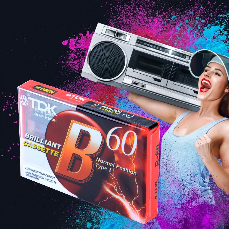 Bageek 3PCS Cassette Vierge Cassette Professionnelle 60 Minutes Cassette Audio pour Enregistrement Vocal