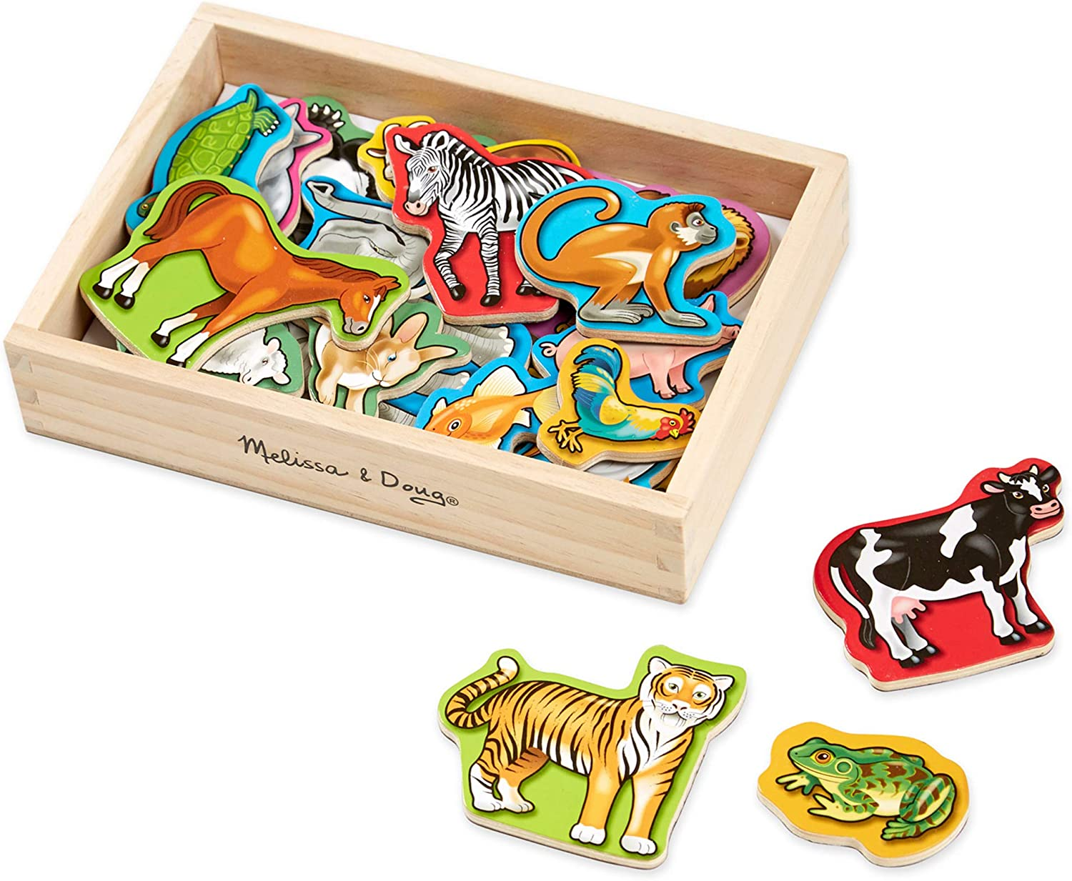 Melissa & Doug 20 Animal Magnets in a Box: Melissa & Doug: Toys & Games