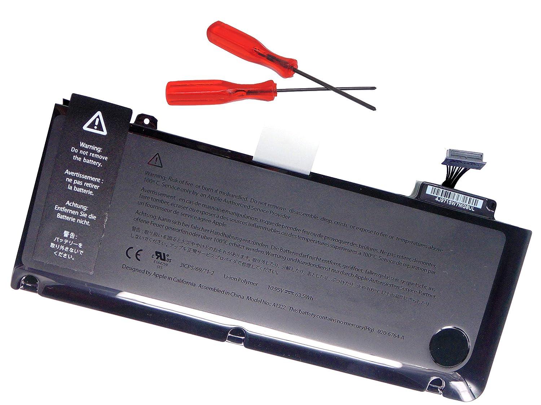A1278 Mid-2009 Mid-2010 Early-2011 Late-2011 Mid-2012 10.95V 6000mAh MacBook Pro 13 A1322 Batteries dOrdinateur Portable A1322 KYTD Batterie de Remplacement pour Apple Macbook Pro 13 A1322