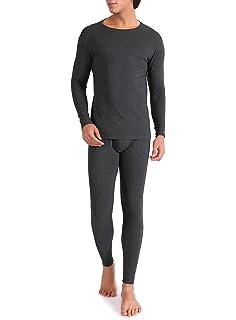 9652641eb6 Genuwin Herren Thermounterwäsche Set - Thermo Unterhose mit Eingriff aus  Baumwolle – Funktionsunterwäsche für Winter -