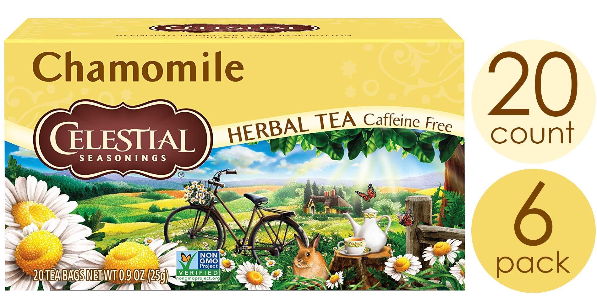 Celestial Seasonings Herbal Tea, Chamomile, 20 Count (Pack of 6) by Celestial Seasonings