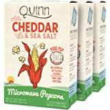 Quinn Snacks Microwave Popcorn - Made with Organic Non-GMO Corn - Great Snack Food for Movie Night {White Cheddar, 3 Boxes}