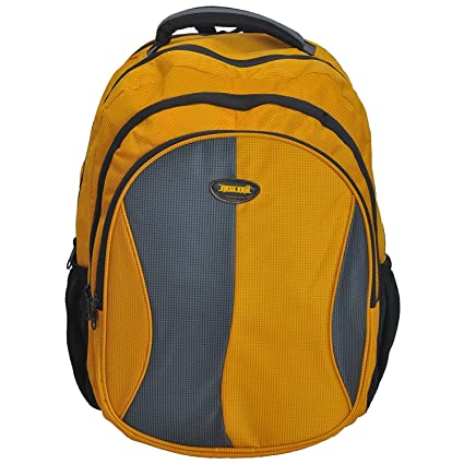 7561f4647607 New Era Polyester 40 Ltr Yellow-Grey School Bag  Amazon.in  Bags ...
