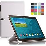 IVSO Slim Smart Cover Custodia in pelle PU con Supporto per Samsung Galaxy Tab S 10.5 Tablet con Auto Sleep/Wake Function (Bianco)