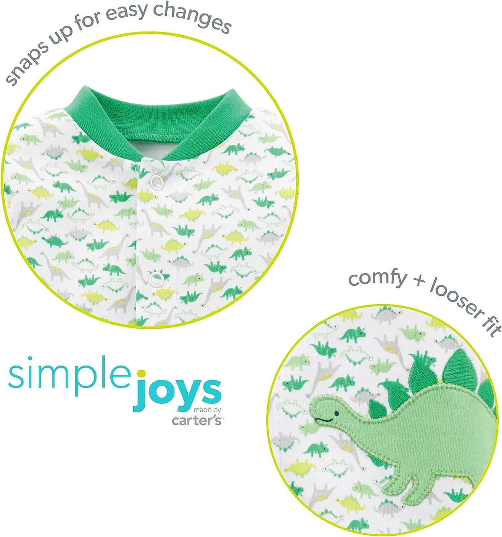 Simple Joys by Carters Baby Girls Pack de 2 peleles de algod/ón para dormir y jugar