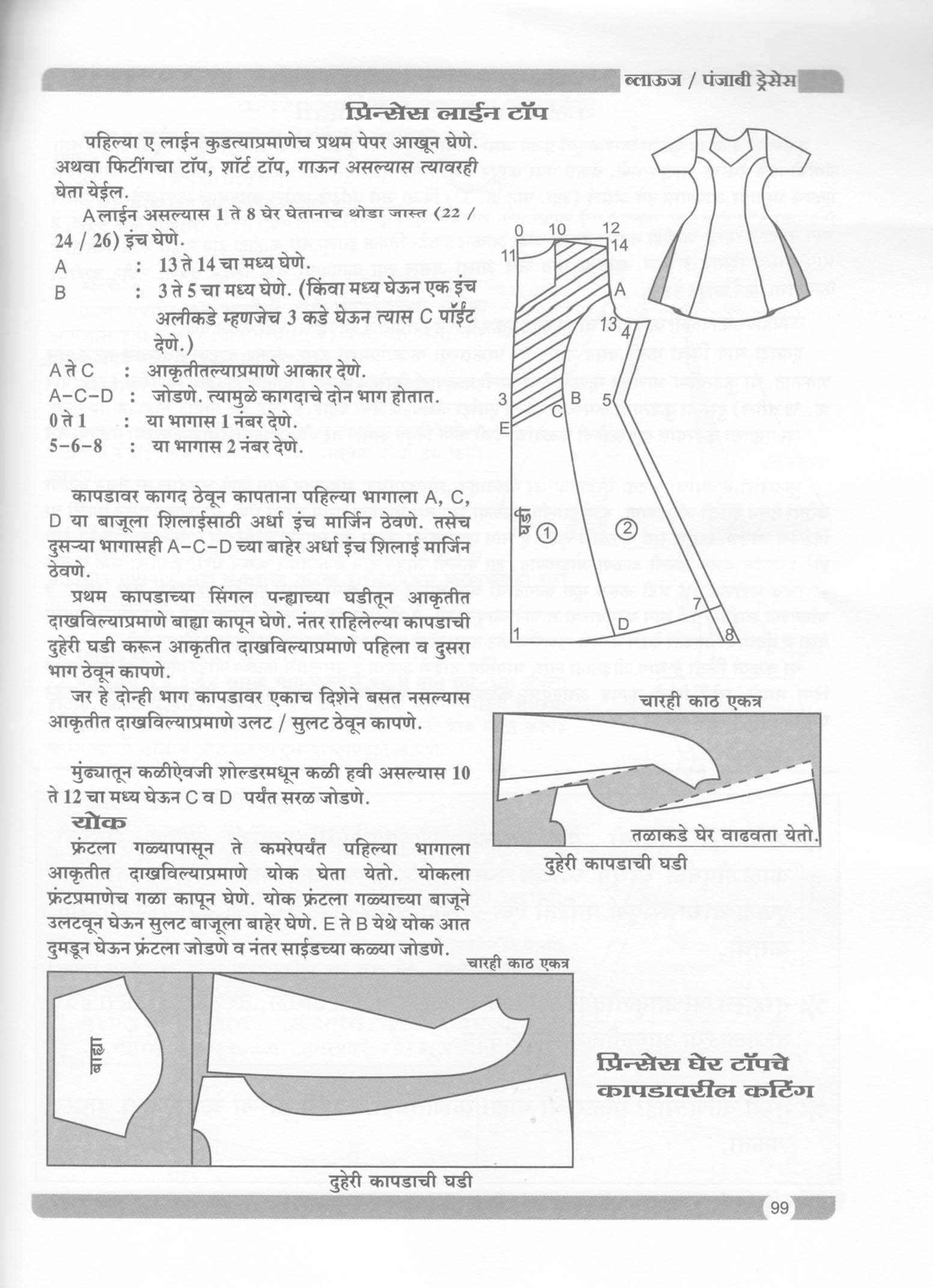 Buy Liberty Blouse Punjabi Dresses Theory Book In Marathi Book