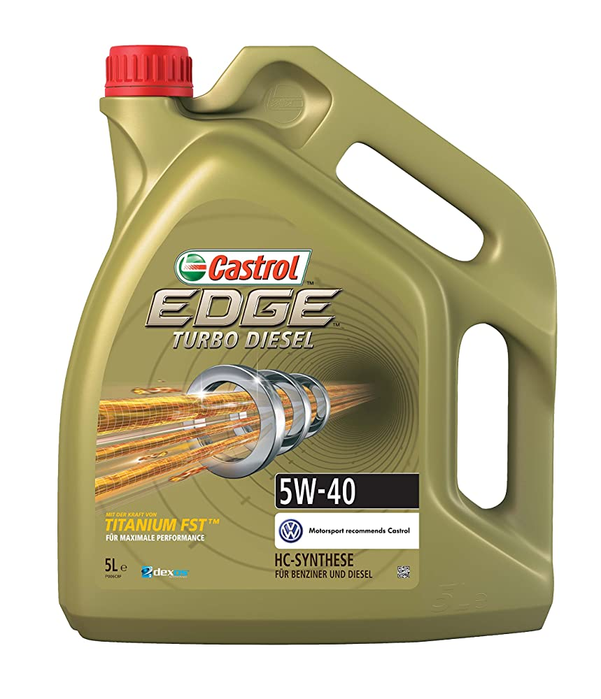 Castrol EDGE Turbo Diesel Engine Oil 5W-40 5L (German label)