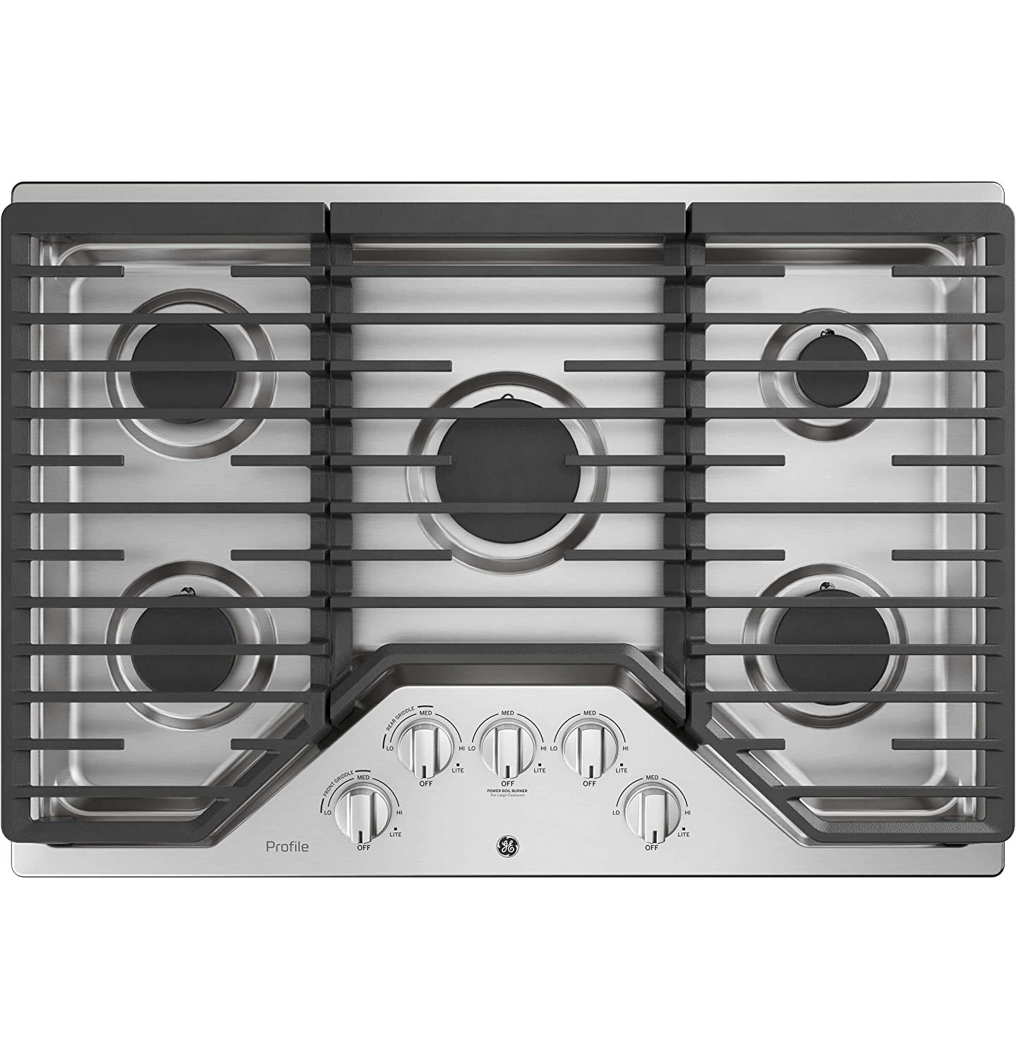 GE Profile PGP7030SLSS 30 Inch Natural Gas Sealed Burner Style Cooktop with 5 Burners in Stainless Steel G.E. Profile