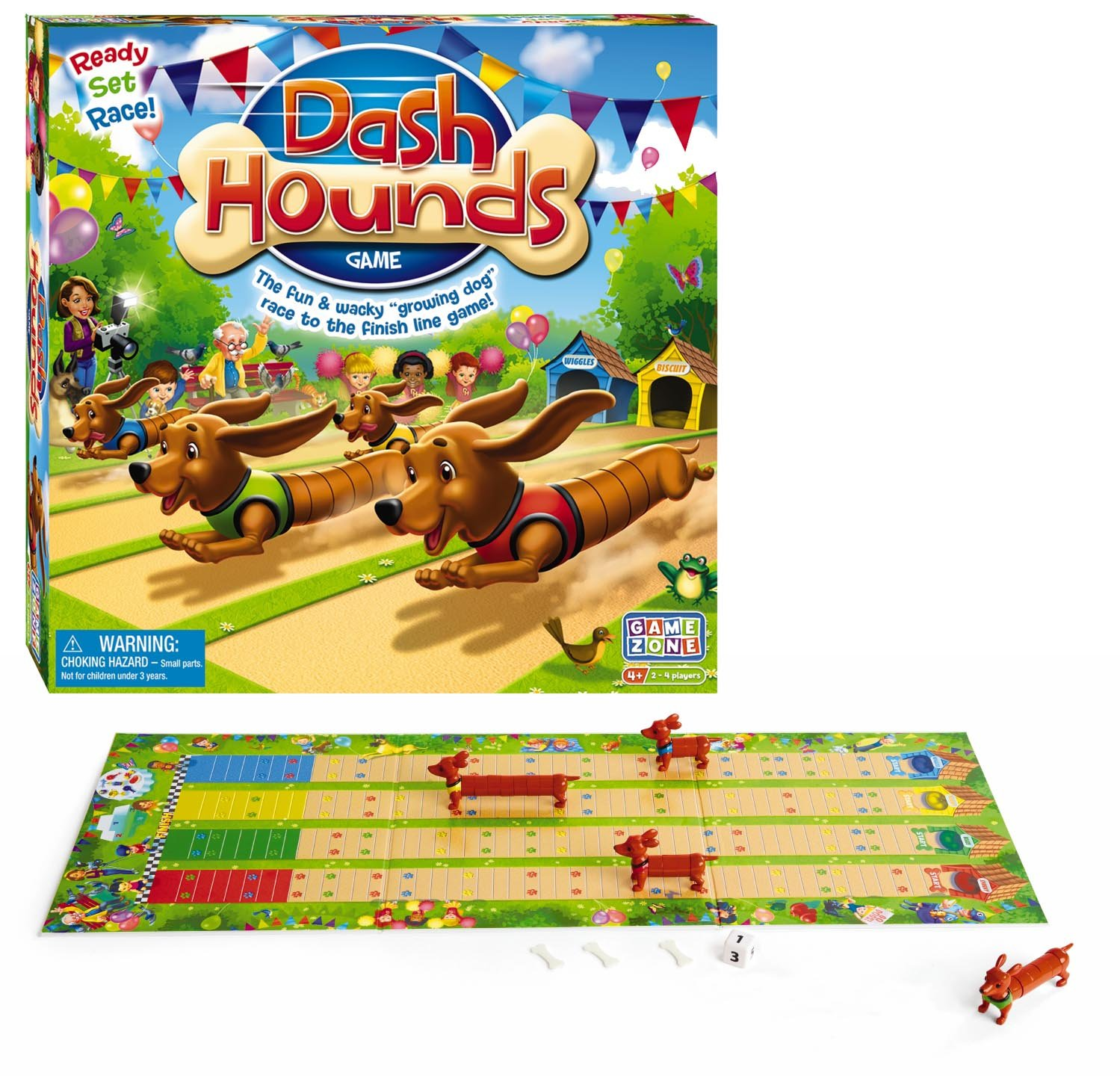 tiempo libre International Playthings Game Zone Dash Hounds Hounds Hounds Board Game - A Fast Paced Dog Race With a Twist - First Tail to Cross the Finish Line Wins Ages 4+  envío gratuito a nivel mundial