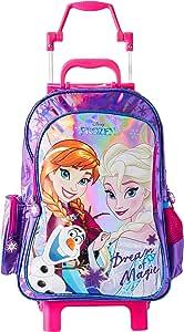 Mala Escolar G com Rodinhas Disney Frozen, 41 x 30 x 14, Dermiwil 51981, Multicor, Dermiwil, 51981, Multicor