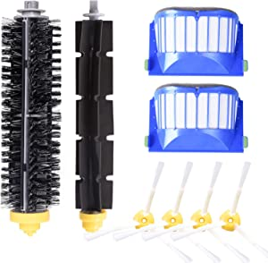 YOMEKOLY Accessory for iRobot Roomba 600 610 620 630 645 650 655 660 680 500 Series Model 595 Replacement Kit Replenishment iRobot Parts Set Filter Side Brush Bristle Brush Flexible Beater Brush
