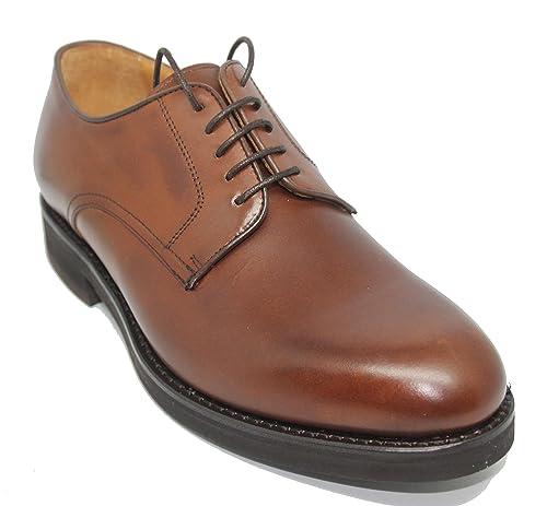 cd7685e42ee Zapatos de Cordones con Pala Lisa BERWICK de Piel de Becerro Color Cuero para  Hombre: Amazon.es: Zapatos y complementos