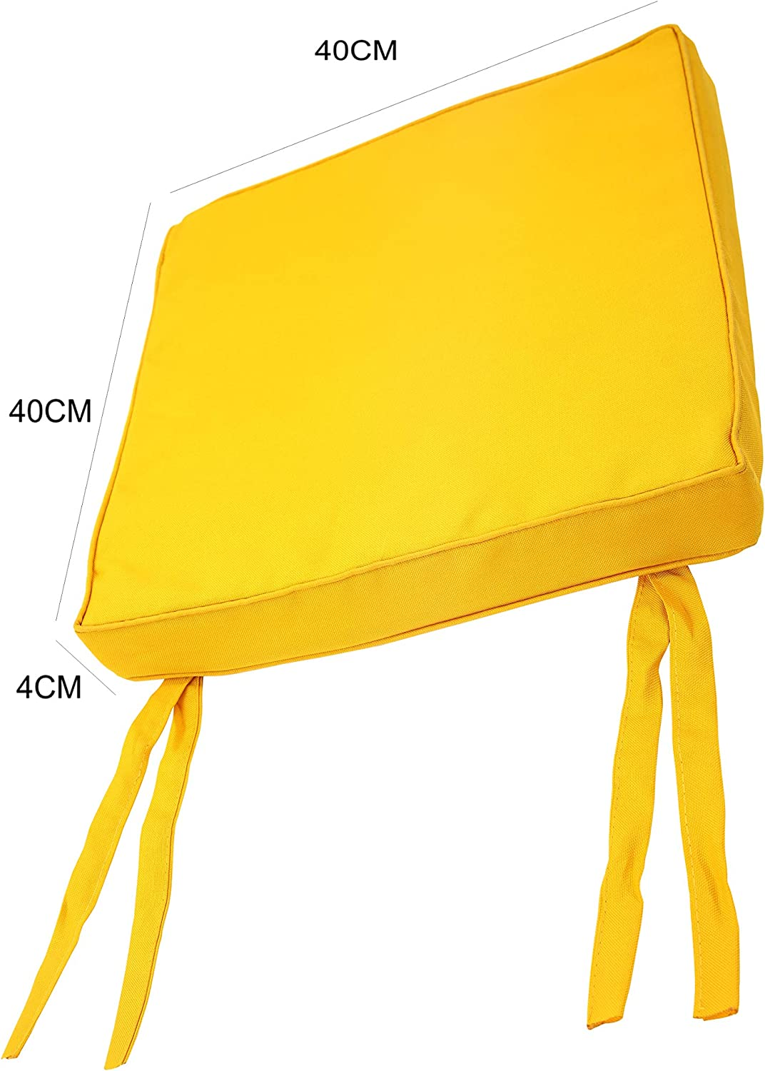 WATERPROOF Chair Cushion Seat Pads OUTDOOR Tie On Garden Patio Removable Cover