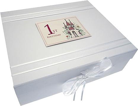 white cotton cards CAS2X - Caja para guardar recuerdos del bebé ...