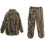 Ancheer Ghillie suit Woodland 3D Leafy Camo suit Camouflage Gear,Jungle Sniper Hunting Airsoft Set Army Military Clothes Outdoor for Men