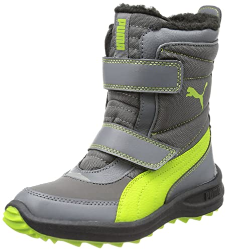 50c318986997b2 Puma Unisex - Child Cooled Boot Kids Boots Gray Grau (steel gray ...