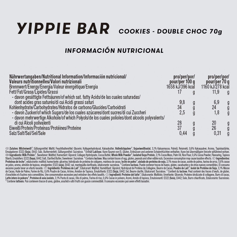 JOE WEIDER VICTORY Yippie Bar BULK Cookies-Choco 70g x24 unidades ...