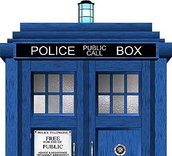 good looking doctor who tardis door decal. Doctor Who Tardis Headboard Repositionable Wall Graphic Decal Sticker  Gift Sci Fi Amazon com