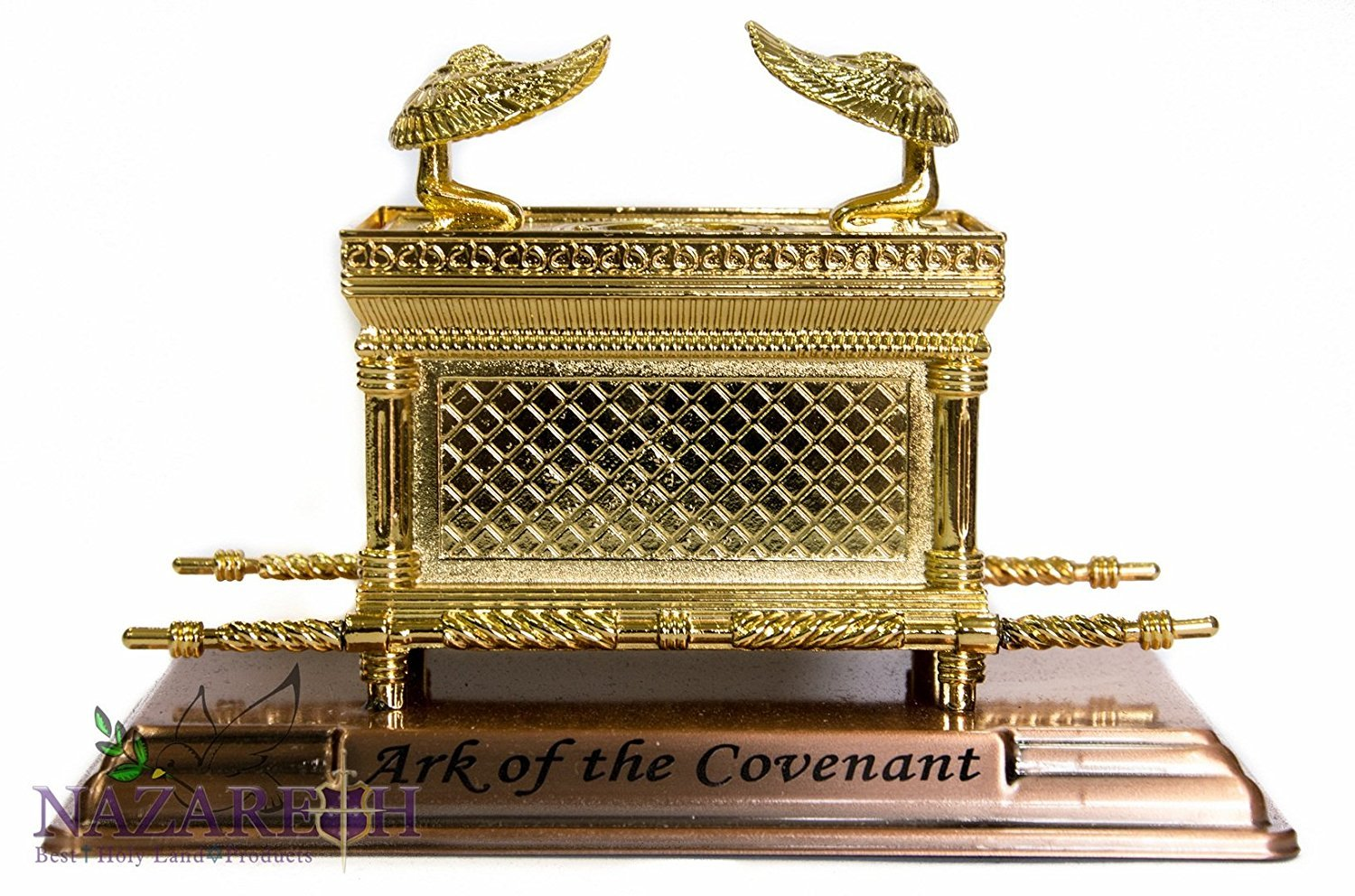 "Statue Copper Ark of the Covenant 7.1"" Jewish Testimony Judaica Israel Gift"