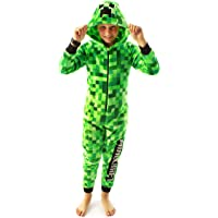 Minecraft Onesie Pixelated Creeper Sleepsuit Gamer Gift para niños