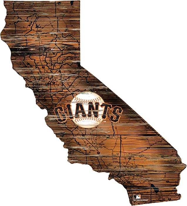 "San Francisco Giants 12"" Mini Roadmap State Sign"