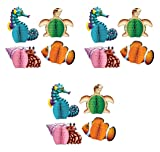 Beistle S50449AZ3 Sea Creatures Mini Centerpieces, Multicolored, 12 Piece