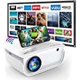 """WiFi Projector, 6500L Mini GROVIEW Projector with 100'' Screen, Full HD 1080P and 240"""" Supported, Synchronize Smartphone Scre"""