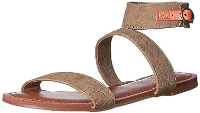 46112db248bd72 Roxy Women s Marron Ankle Strap Sandals Flat
