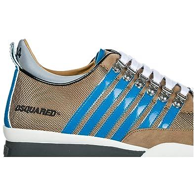 Dsquared2 Zapatos Zapatillas de Deporte Hombres en Ante Nuevo 251 Marrón EU 45 SNM0101 12940001 M907: Amazon.es: Zapatos y complementos