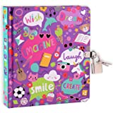 "MOLLYBEE KIDS My Favorite Things 6.25"" Lock and Key Diary for Girls, 208 Lined Pages with Fun, Inspiring Doodles on…"