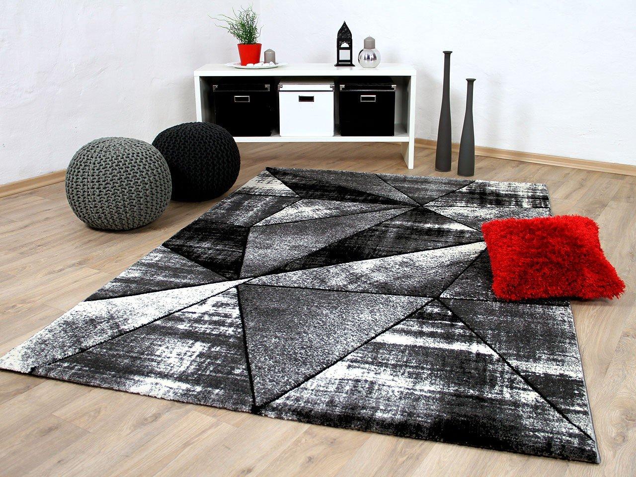 Designer Teppich Brilliant Grau Anthrazit Magic in 5 Größen