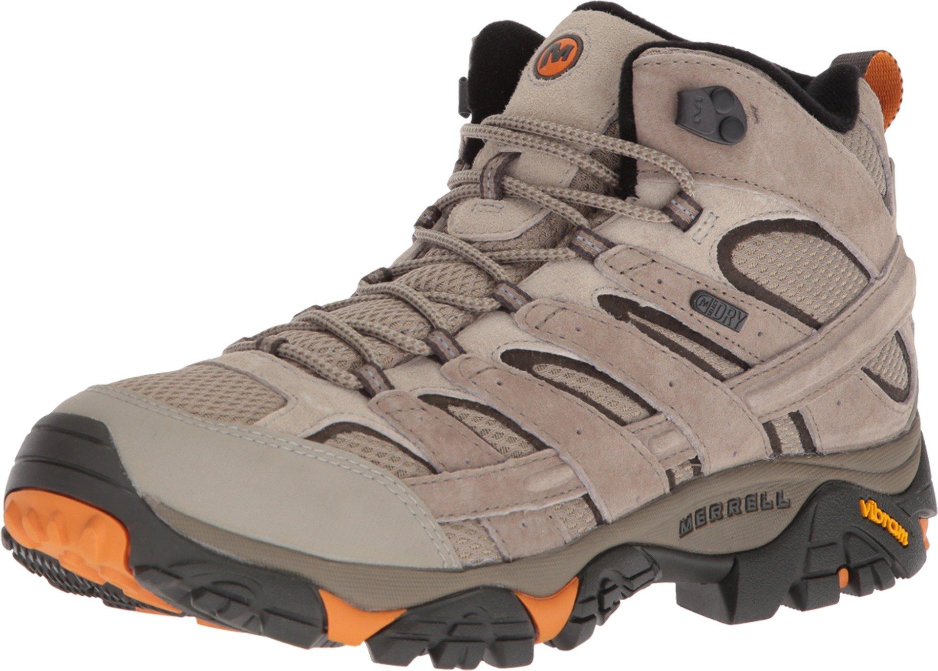 Merrell Men's Moab 2 Mid Waterproof Hiking Boot (8 D(M) US, Brindle)