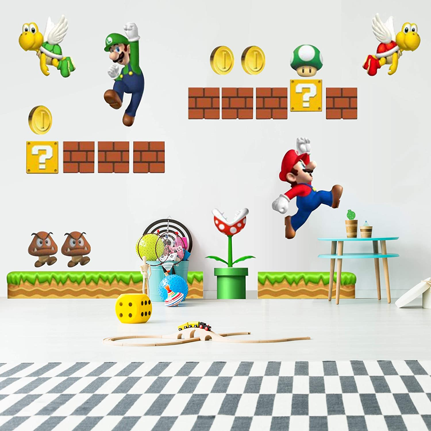 New Super Mario Brothers Wall Stickers ATL Vinyl Wall Stickers