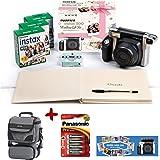 Bundle Fuji Instax 300 Instant Camera + 60 shot Film + Panasonic Gold Batteries + Smart Carry Case + Wedding Guest book, photo mount & pen