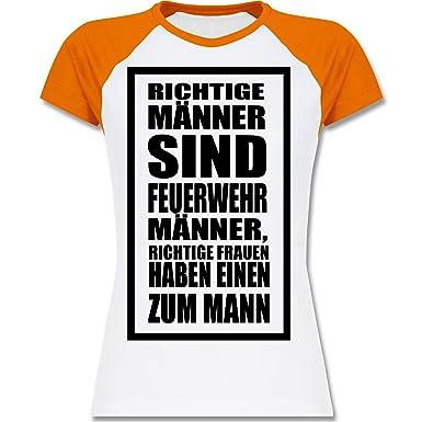 Shirtracer Feuerwehr - Feuerwehr - Richtige Männer - XXL - Weiß/Orange -  L195 - Zweifarbiges Baseballshirt/Raglan T-Shirt für Damen: Shirtracer:  Amazon.de: ...