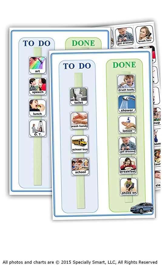 Amazon 80 Photos 2 Charts For Autism Visual Schedule Picture