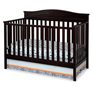 Delta Children Larkin 4 In 1 Crib, Dark Chocolate