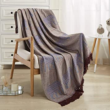 Super Jml Throw Blanket Soft Smooth Jacquard Organic Bamboo Cotton Throw Blanket For Couch Bed Blanket Travel Lap Blankets With Tassels Suit For Home Sofa Gmtry Best Dining Table And Chair Ideas Images Gmtryco