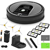 iRobot Roomba 960 Vacuum Cleaning Robot + Dual Mode Virtual Wall Barrier (With Batteries) + 3 Extra Side Brushes + 4 Extra High Efficiency Filters + A Set Of AeroForce Extractors + More