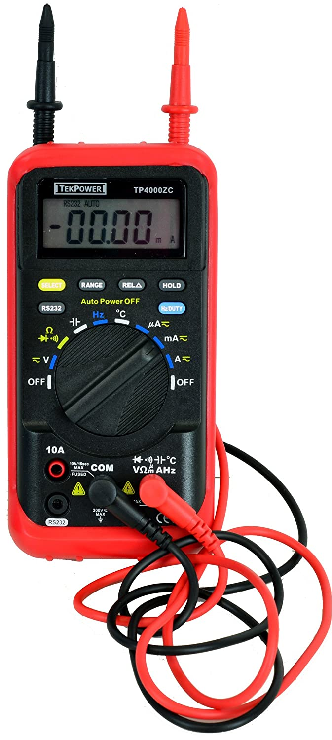 Tekpower Tp4000zc Pc Based Rs232 Interfaced Auto Ranging Digital Rs 232 Powered Temperature Sensor Multimeter Ms8220r Alike Computer Dmm Industrial