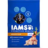 IAMS PROACTIVE HEALTH Senior Plus Premium Dry Dog Food (1) 12.5 Pound Bag; Veterinarians Recommend IAMS; Chicken Is #1 Ingredient